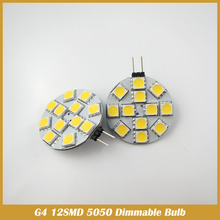 2x Dimmable G4 12SMD 5050 RV interior boat cabinet light bulb warm white