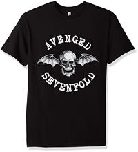 Authentic AVENGED SEVENFOLD Band Classic Deathbat Logo T-Shirt S-3XL NEW  O-Neck Fashion Casual High Quality Print T Shirt цена и фото