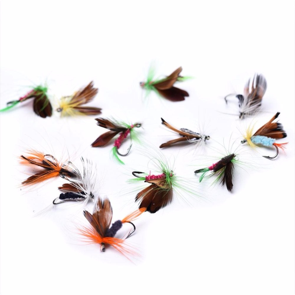 12Pcs 50mm Fish Lure Colorful Artificial Baits Fishing Tackle Brown
