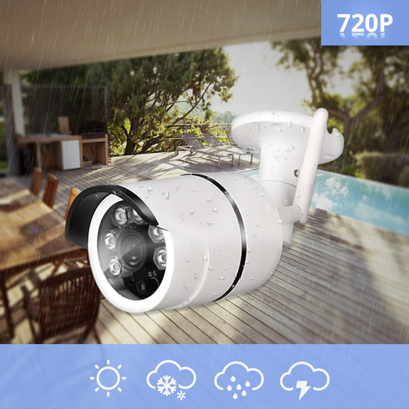 4CH Wireless NVR Kit Security Camera System 720P FHD IP66 WIF Outdoor With Waterproof Infrared Night Vision Monitoring System4CH Wireless NVR Kit Security Camera System 720P FHD IP66 WIF Outdoor With Waterproof Infrared Night Vision Monitoring System