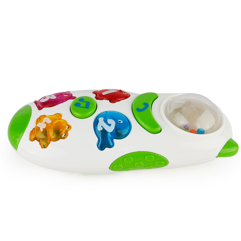 2018 White Cartoon Music Lighting Children Mobile Toy Phone Talking Learning Machine Kids Toys For Children Learning Instrument