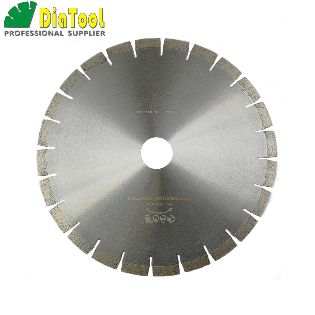 цена на DIATOOL 14 Diamond Silent Blade Sandwich Steel Core Cutting Disc Bore 50MM Granite Blade Diamond Wheel Disk Saw Blade