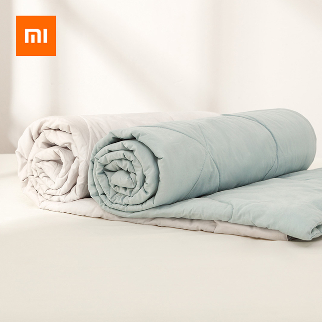 Original Youpin Summer Quilt Air Conditioning Quilt Washable Cotton Antibacterial Breathable Cotton Bed Blanket For Baby