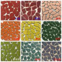 100g Creative Ceramic Mosaic Tiles DIY Wall Crafts Handmade Decorative Materials Various Mixes Irregular Optic Drops YLM9859