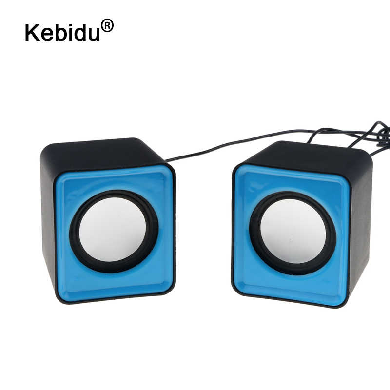 Kebidu Draagbare Usb 2.0 Mini Speaker Multimedia Desktop Muziek Stereo Computer Notebook Home Theater Speaker 3.5 Mm Jack