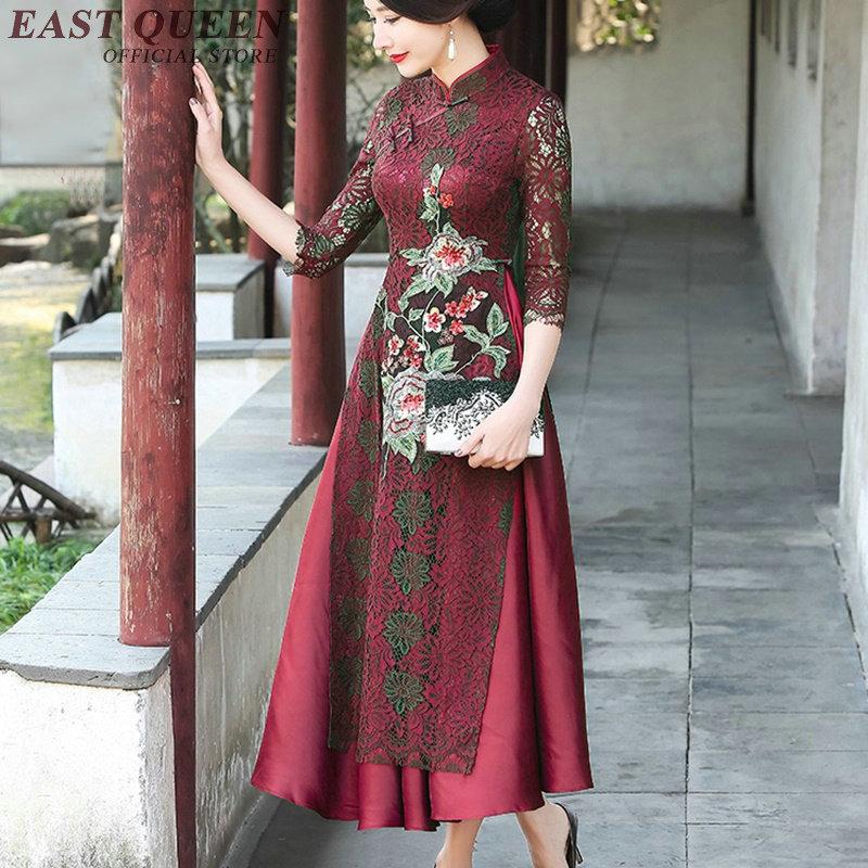 1 Kk1205 Moderne Qipao 2 4 Magasin Cheongsam 3 Chinois Vêtements Femmes Robe De jq3RL45A