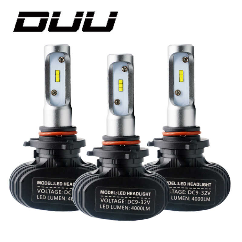 DUU 2Pcs 9005 HB3 9006 HB4 H11 H4 H7 Led H1 Auto Car Headlight S1 N1 50W 8000LM 6000K Automobile Bulb CSP Lumileds La