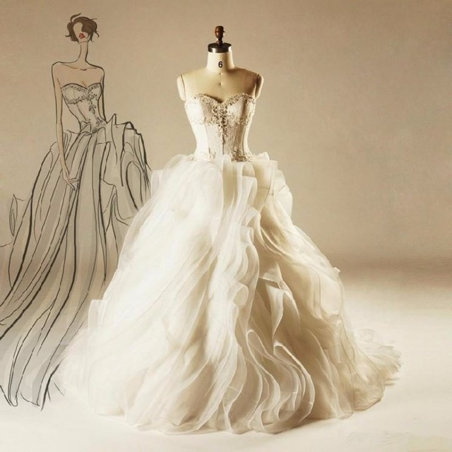 2015 Wedding Dresses Cinderella Style Real Princess Ball Gown ...