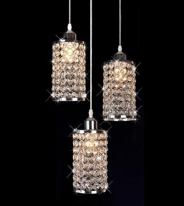 New Modern LED Crystal Light Pendant Lamp Chandelier Bar Lighting Restaurant Bed room Living Room Kitchen Foyer restaurant white chandelier glass crystal lamp chandeliers 6 pcs modern hanging lighting foyer living room bedroom art lighting