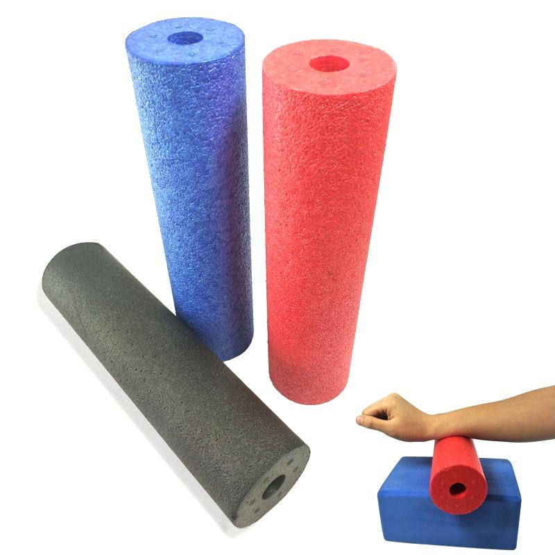 Rodillo de espuma de Yoga EPP rodillo Yoga Pilates gimnasio equipo de 28,5*7,3 cm EPP núcleo sólido Motley patrón Yoga de espuma rodillo