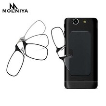 MOLNIYA 2019 Square Clip Nose Reading Glasses Men Women Ultralight Prescription Spectacles Ultrathin Portable card Box