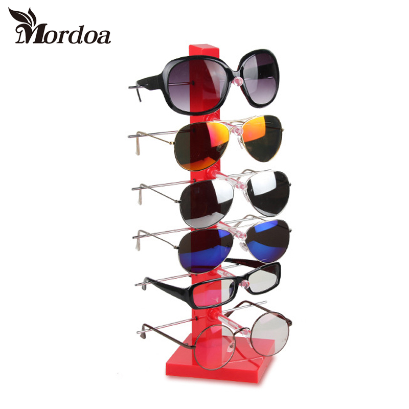 2017 High Quality 6 - Layer Sunglasses Display Rack Shelf GLasses Showing Stand Jewelry Holder Showcase Jewelry Display
