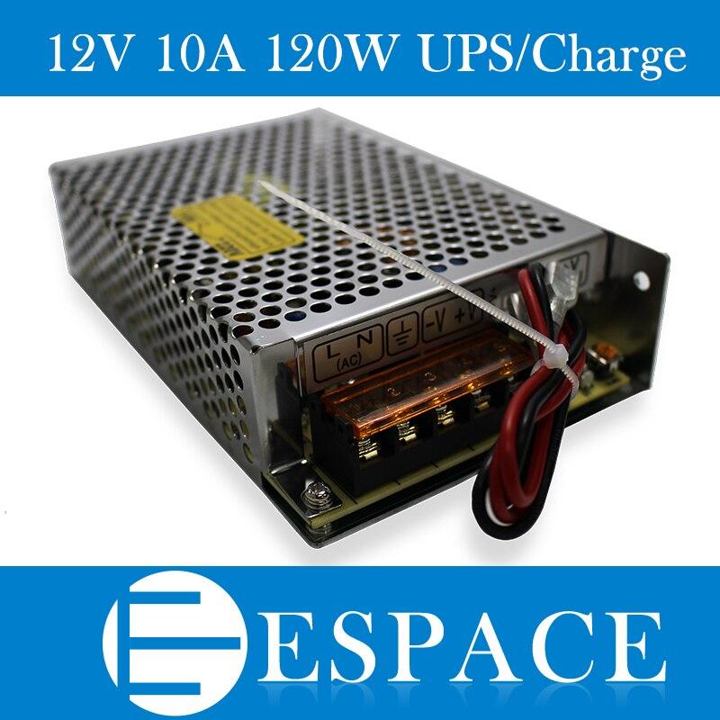 10pcs/lot 120W 12V universal AC <font><b>UPS</b></font>/Charge function monitor switching power supply input 110/220v battery <font><b>charger</b></font> output 13.8v