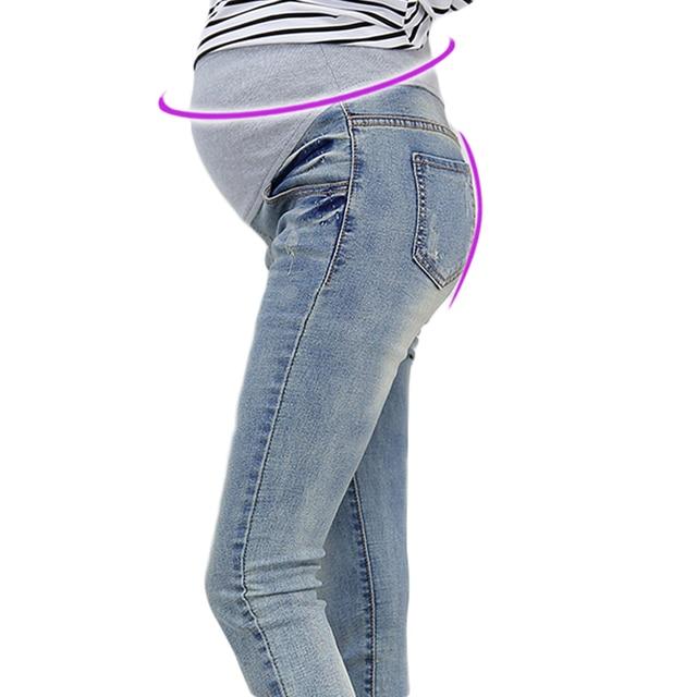 2016 новый беременных джинсы беременные женщины брюки мода Slim брюки ноги поножи поручило
