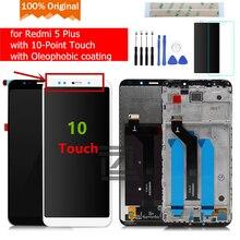 Оригинальный Для Xiaomi Redmi 5 Plus плюс ЖК-дисплей Дисплей Сенсорный экран Стекло Панель рамкой планшета Ассамблеи Redmi 5Plus запасных Запчасти