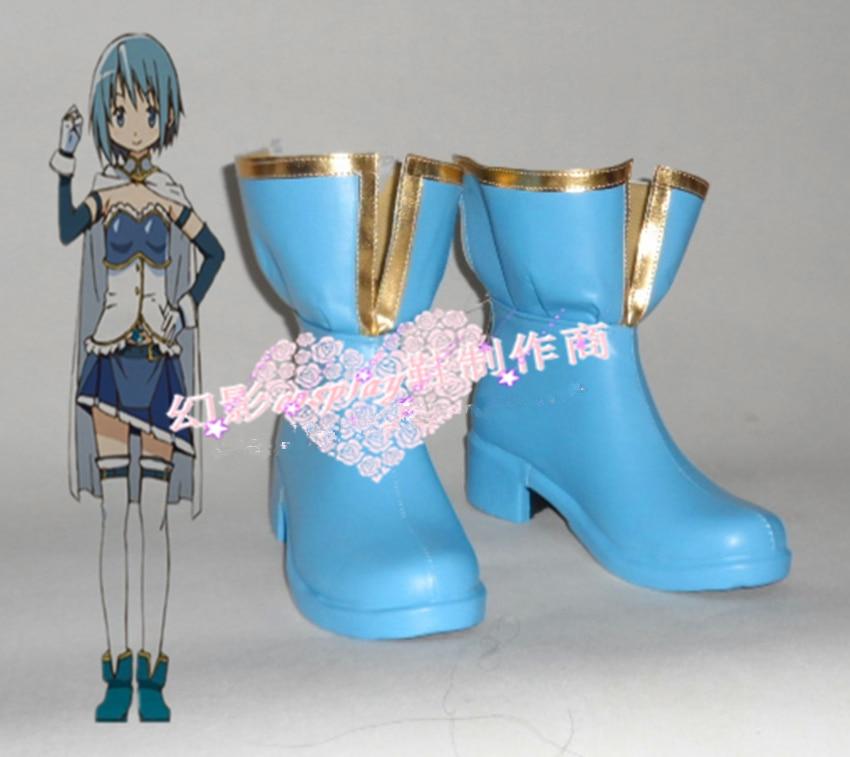 Anime Puella Magi Madoka Magica Sayaka boots cosplay shoes custum made