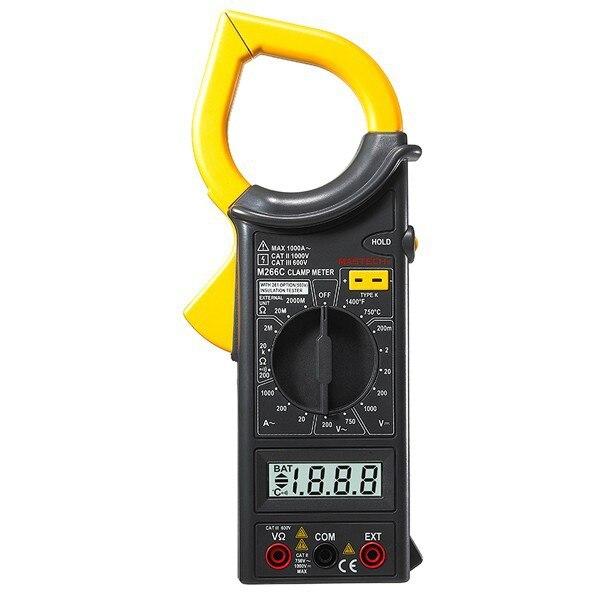 MASTECH M266C Цифровой мультиметр клещи переменного тока DC напряжение сопротивление тестер детектор с диодом
