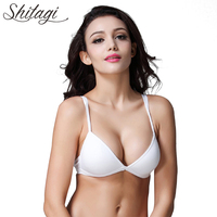 Shitagi Lady Pure Color Simple Triangle Cup Bra Sexy Cotton Brassiere Women Comfortable Breathable Seamless Thin