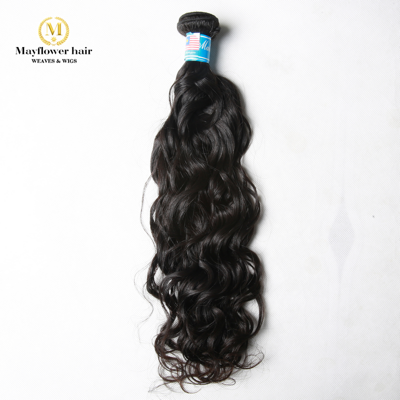 1pc sample Unprocessed Malaysian human hair water wave Virgin Malaysian hair casual wavy natural color can be dye no tangle