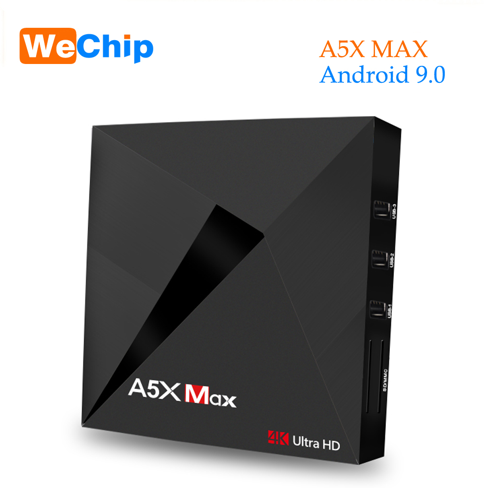 A5X MAX 4G/3G RK3328 Quad-Core Android 9.0 TV Box 100 M 4 K HD h.265 DLNA Airplay lecteur multimédia PK X96 mini TX3 mini H96 max