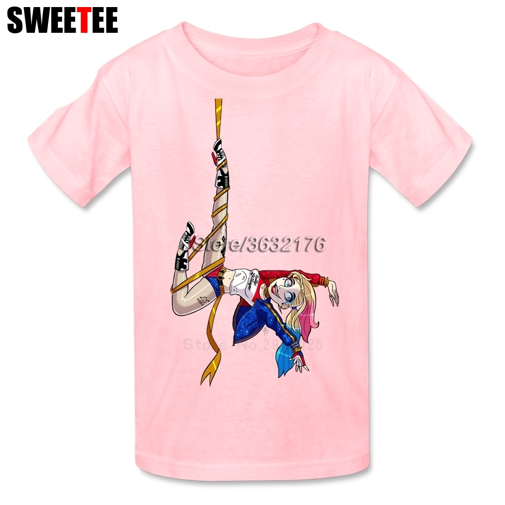 Suicide Squad Boy Girl T Shirt Baby Infant 100% Cotton Round Neck Kid Tshirt Children Tops 2018 Harley Quinn T-shirt For Toddler