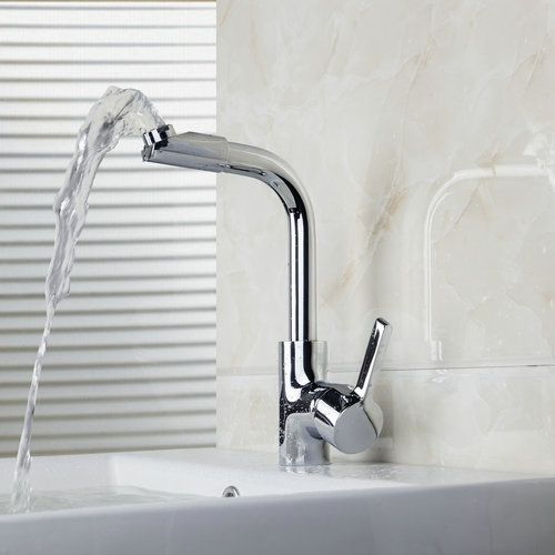 New Brass Chrome Mixer Water Tap Kitchen Sinks Faucet Bathroom Swivel Faucet Deck Mount 8475 1