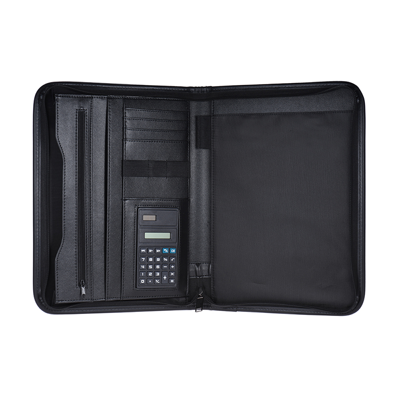 Multifunctional Professional Business Zippered Padfolio Folder Document Case Organizer  Leather A4 PU Portfolio Memo Note PadMultifunctional Professional Business Zippered Padfolio Folder Document Case Organizer  Leather A4 PU Portfolio Memo Note Pad