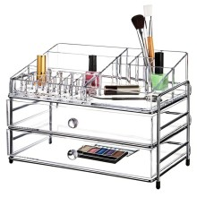 все цены на Lipstick Case Make Up Holder Display Stand Clear Acrylic Organizer Makeup Case Sundry Storage Lipstick organizer Make Up Stand онлайн