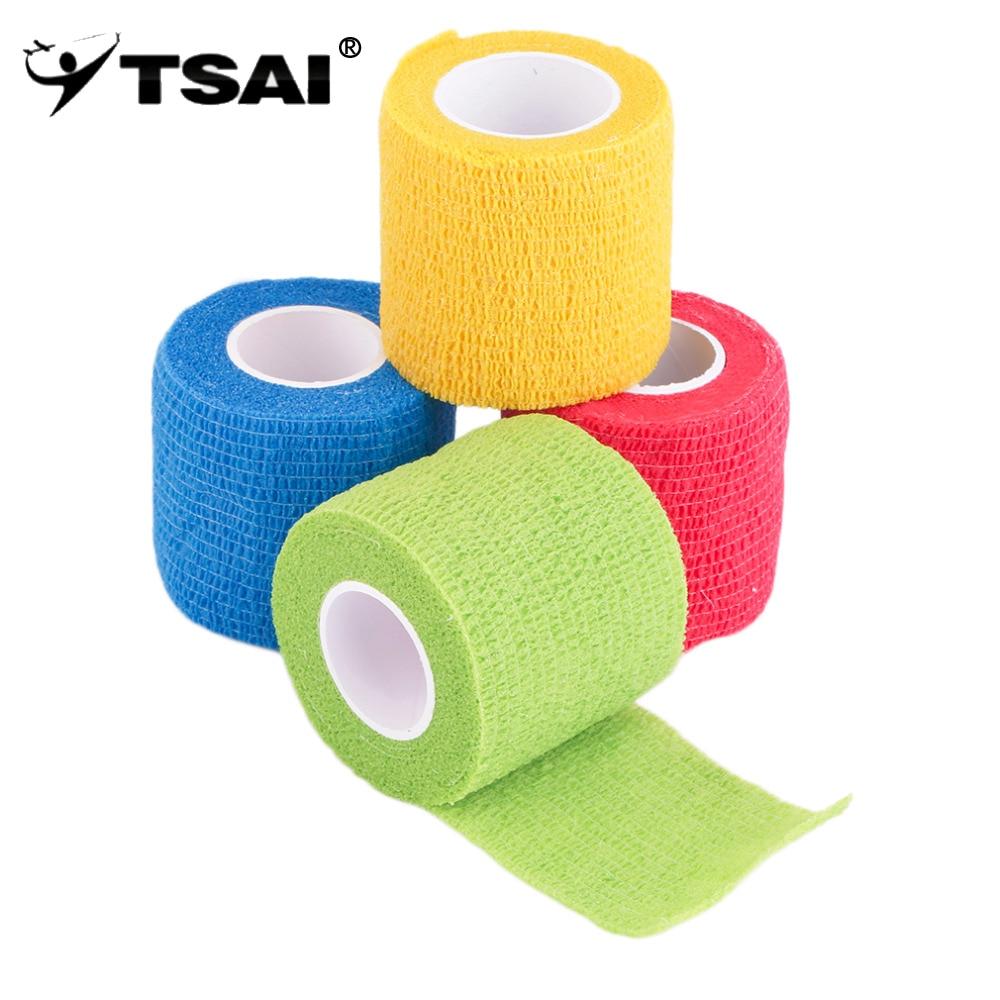 TSAI Auto-Aderente Wraps Bandagem Elástica Adesiva Fita de Primeiros Socorros Trecho 5cm