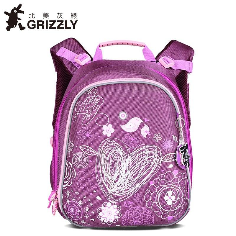 GRIZZLYใหม่เด็กS Atcheการ์ตูนถุงโรงเรียนประถมมัลติฟังก์ชั่กระดูกเป้โรงเรียนสำหรับเด็กสาวเกรด1 4 Ba-ใน กระเป๋านักเรียน จาก สัมภาระและกระเป๋า บน   1