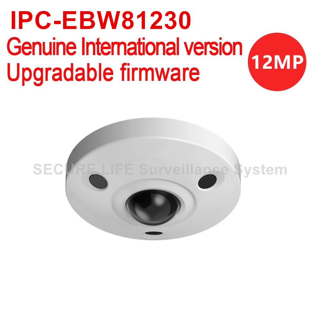 Dahua IPC-EBW81230 12MP Ultra HD Vandal-proof ir network fisheye cctv camera POE IP67 IK10 replace IPC-EBW81200 H.265 no logo free shipping dahua cctv camera 4k 8mp wdr ir mini bullet network camera ip67 with poe without logo ipc hfw4831e se