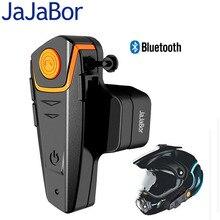 JaJaBor Motorcycle Helmet 1000 meters Bluetooth Headset Intercom Wired& Wireless Waterproof FM Music Headphones with EU/US Plug