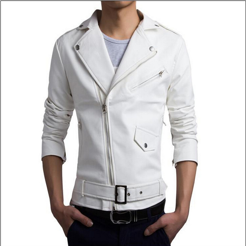 Popular White Leather Jackets Men-Buy Cheap White Leather Jackets ...