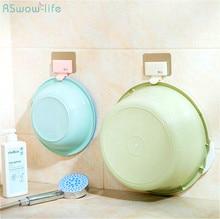 2Pcs Traceless Basin Hooks Adhesive Bathroom Double Layer Structure Multipurpose Towel High Load-Bearing Holder