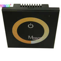 Nero CCT pannello Touch dimmer regolatore di temperatura di colore, per Dual bianco ha condotto la striscia, rondella della parete, DC12V-, 2 canale di uscita