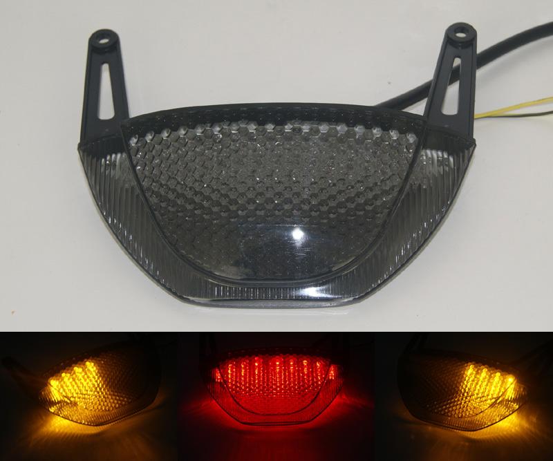 Prix pour Pour Honda CBR600RR CBR 600 RR 2007 2008 2009 2010 2011 2012 E-Marque Arrière Tail Lumière De Frein Clignotants LED Intégré Lumière
