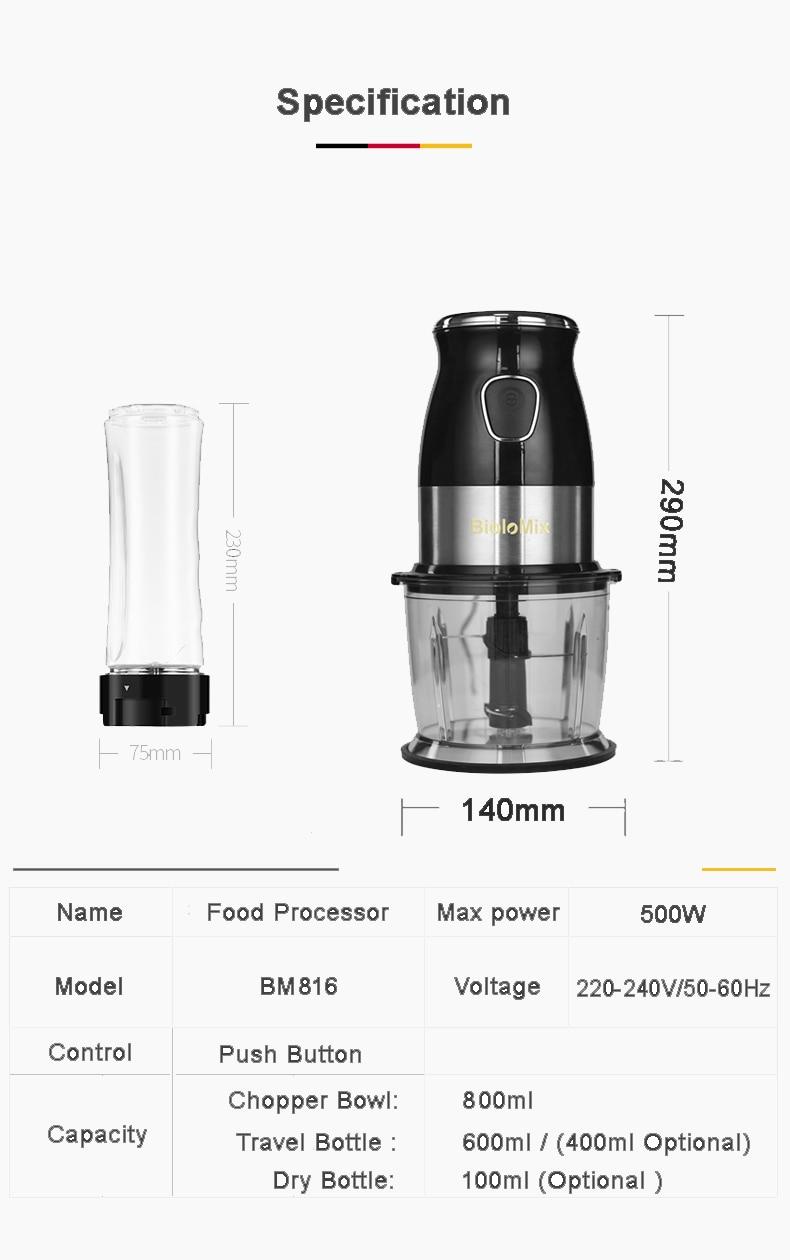 HTB1NWVybzzuK1RjSspeq6ziHVXah BPA FREE 500W Portable Personal Blender Mixer Food Processor With Chopper Bowl 600ml Juicer Bottle Meat Grinder Baby Food Maker