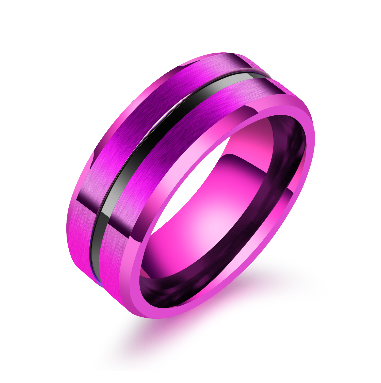 8mm Men Ring for Men Thin Line Men\'s Jewelry Wedding Band Classic ...