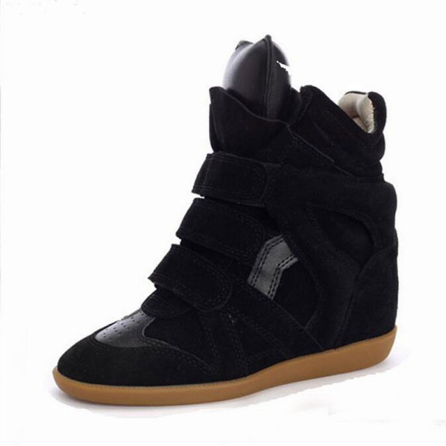 Womens Hidden Heels Wedge Sneakers