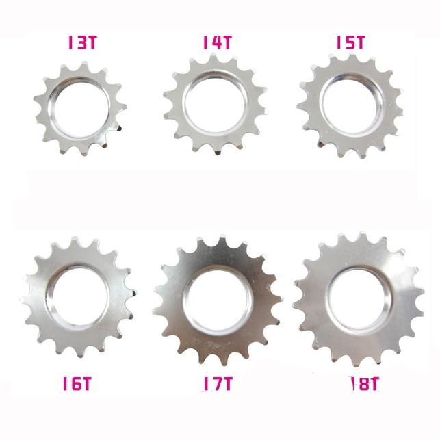 Fixiergetriebe 13T / 14T / 15T / 16T / 17T / 18T Kettenrad, Kettenblätter, Zahnräder, Freilauf mit einer Geschwindigkeit, Radteile