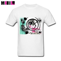 BlINK 182 Logo Photo Cotton Short Sleeve Father S Day Custom Boys Tees Shirt Awesome 3XL