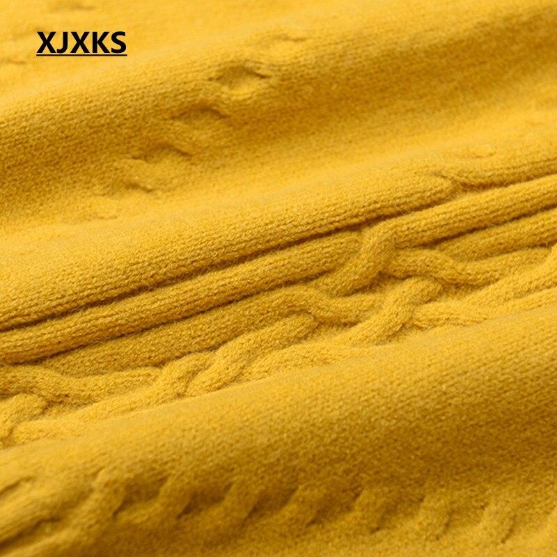Negro Suéter Sólido azul amarillo Femenina Jóvenes Ropa Mujeres Xjxks Punto Nuevo Las blanco Damas Lana De Cachemir Color Y 1XqaZ8Sw