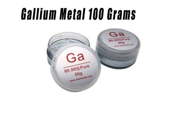معدن الغاليوم 100 جرام 99.99% نقية منخفضة مشيرا ذوبان المعادن السائلة 100 جرام