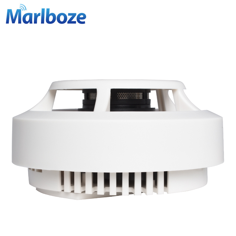 Бесплатная доставка 1 шт. Беспроводной фотоэлектрический детектор дыма огня для Беспроводной охранных Автодозвон сигнализации Системы смо...