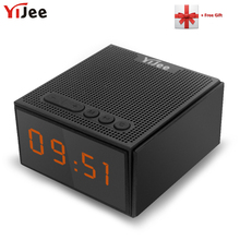 Waterproof Bluetooth Speaker IPX5 Outdoor Wireless Loudspeaker with LED Time Display Smart Alarm clock FM Radio Control by App