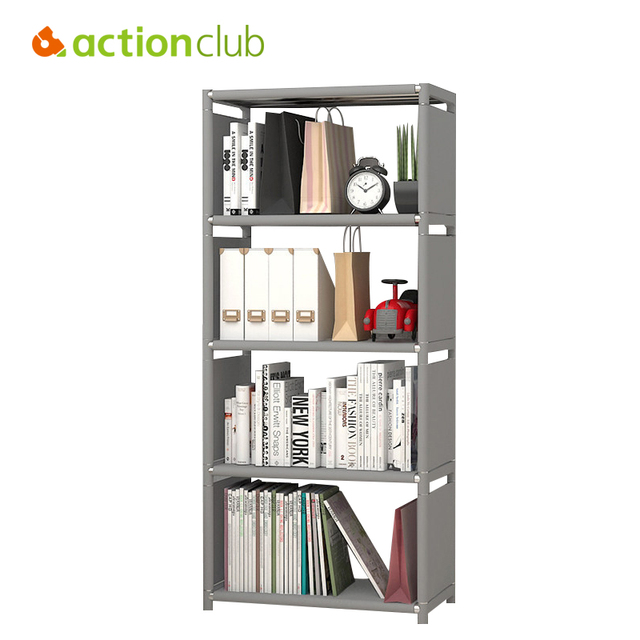 Actionclub Minimalist Modern Bookshelf Multi Functional Students Book Shelf  DIY Combination Reinforcement Storage Cabinet