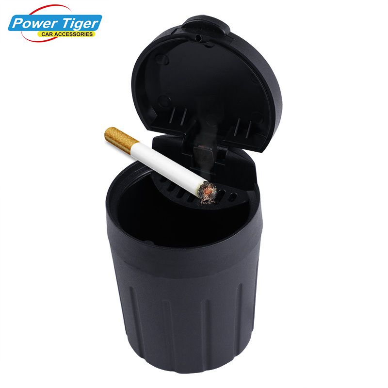 1Pc Car Ashtray Cigarette Smoke Holder Portable Storage Black Trash Bin Dust Garbage For Car Interior Accessories Auto Ashtray