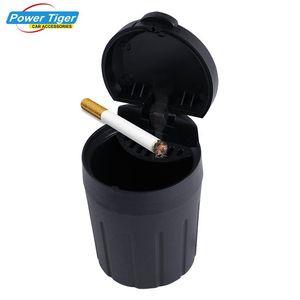 1Pc Car Ashtray Cigarette Smoke Holder Portable Storage Black Trash Bin Dust Garbage For Car Interior Accessories Auto Ashtray