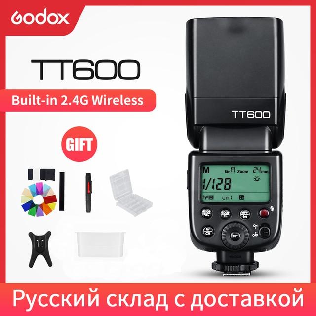 Đèn Flash Godox TT600 2.4G Không Dây GN60 Chủ/Nô Lệ Camera đèn Flash