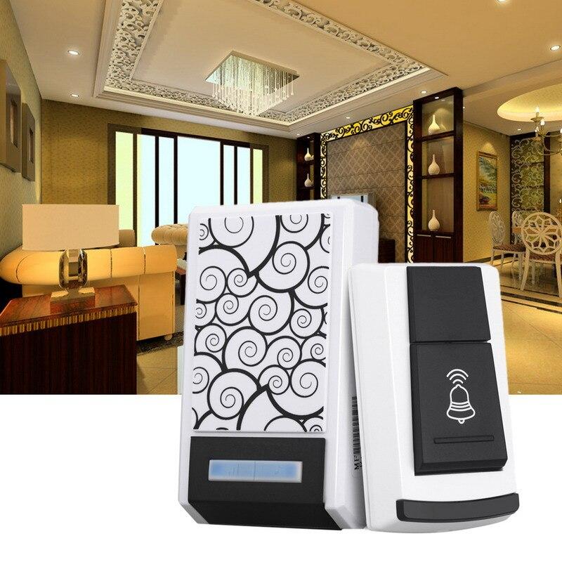 36 Tunes Control remoto inalámbrico inteligente timbre receptor con luz LED impermeable DC timbre de la puerta 100 M rango para oficina en casa